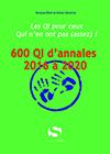 600 QI d'annales – 2016 à 2020